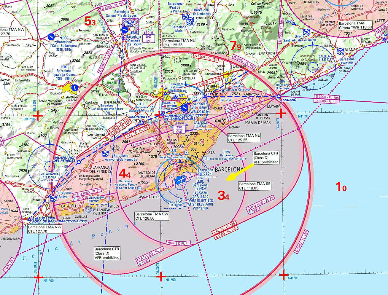 from which one could proceed to the airport along the VFR route.