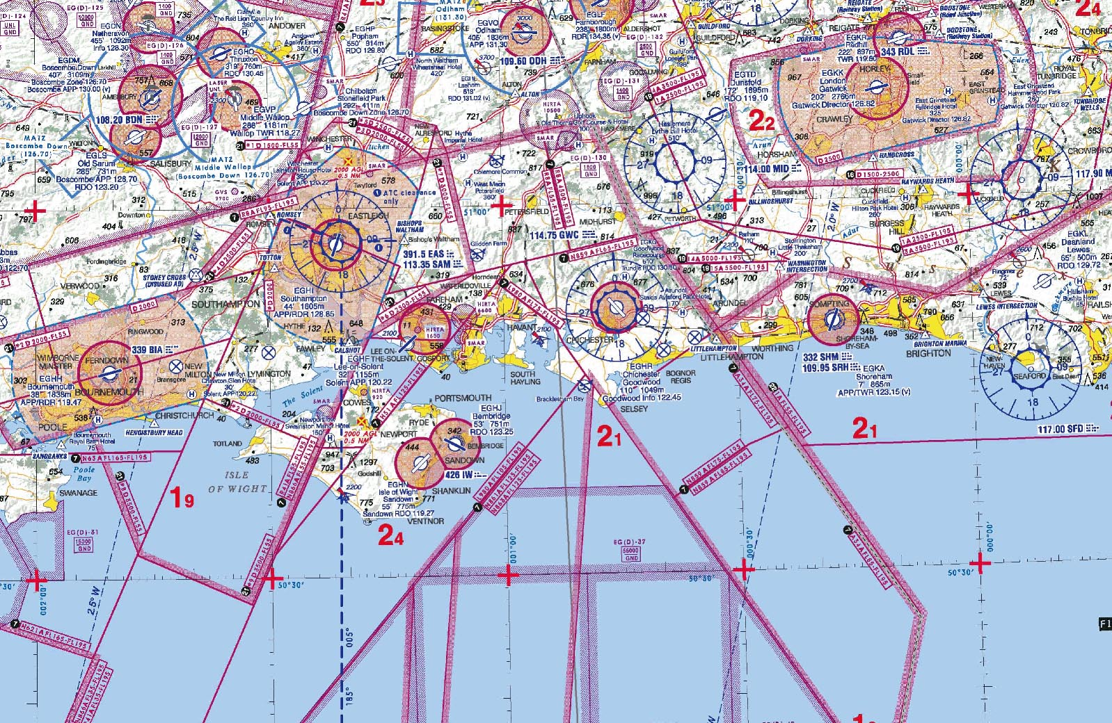 These are less than ideal as to ambiguity of airspace depictions but offer consistency and are preferable over many locally,issued charts, some of which are